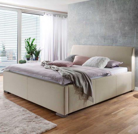 Gestoffeerd bed La Finca - 120x200 cm - beige