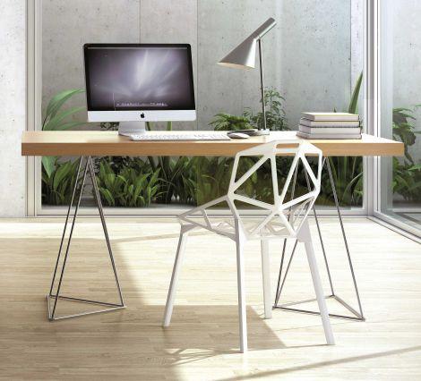 Multis Tisch 180cm - Eiche/Chrom