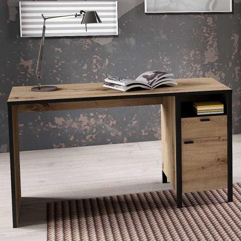 Schreibtisch In-Loft 135cm Industrie - Eiche alt