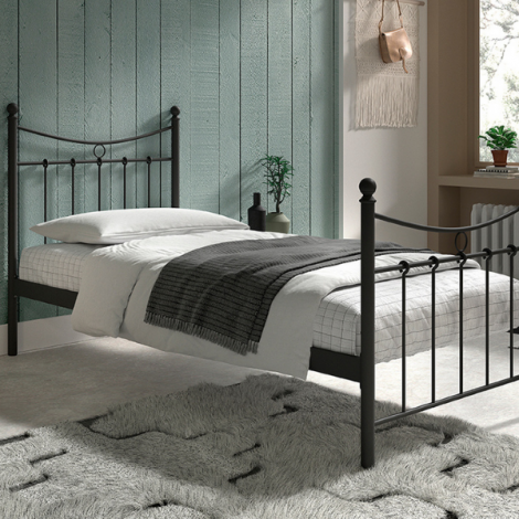 Bett Liza mit Lattenrost 90x200 - schwarz