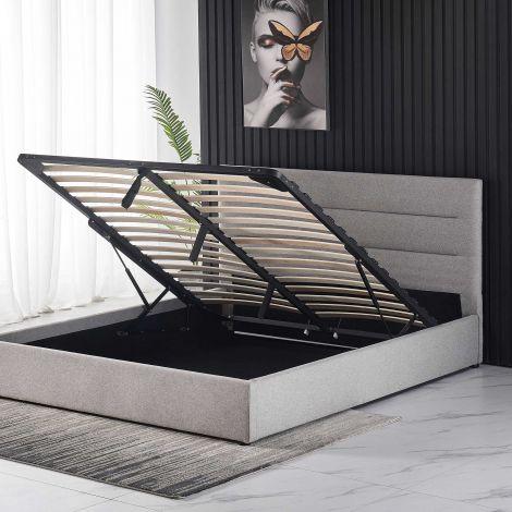 Doppelbett Orso 160x200 mit Stauraum - grau