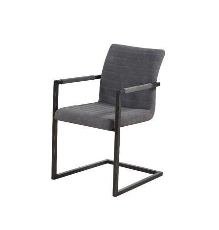 Set mit 2 Stühlen Britt - grau