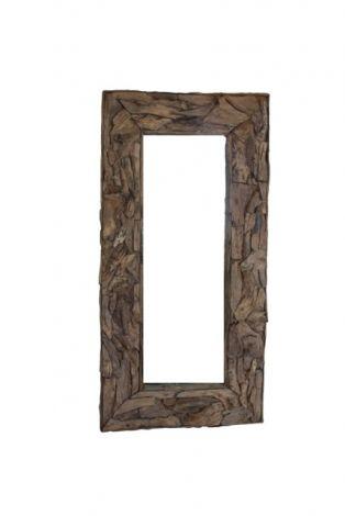 Wandspiegel Root - 240x140 cm - Teakwurzelholz