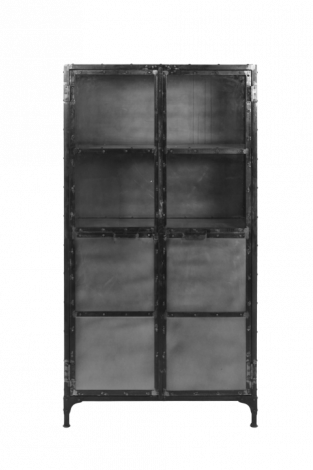 Vitrine Brooklyn - Eisen / Glas - Naturstahl