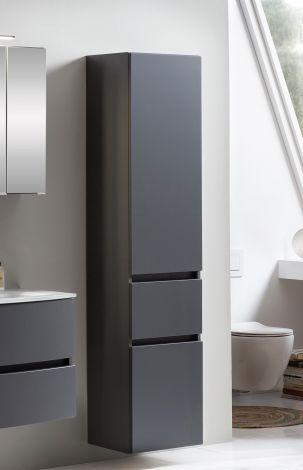 Säulenschrank Kornel/Pisca 40cm 2 Türen und 1 Schublade - graphitgrau