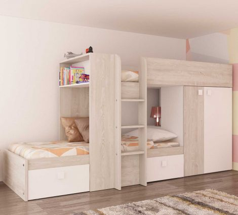 BO1 Bunk Bed 200cm with base White/Cascina
