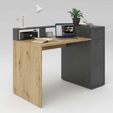 Vancouver Schreibtisch 120cm - Eiche/grau