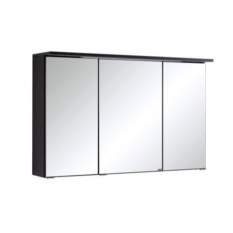 Spiegelschrank Bobbi 100cm modell 1 3 türen und led beleuchtung - graphit