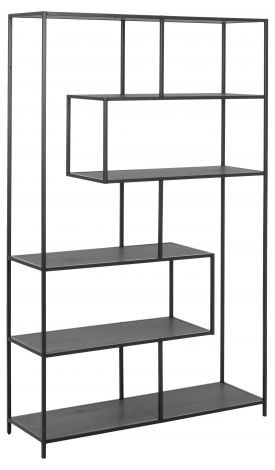 Seaford bookcase, 4 shelves - matt black