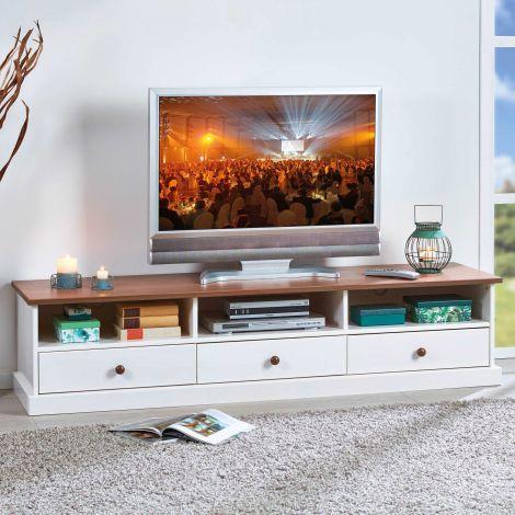 TV Lowboard Westerland - weiß/braun