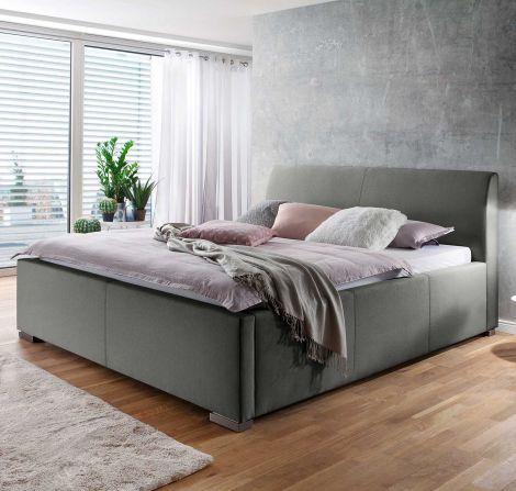 Gestoffeerd bed La Finca - 120x200 cm - Lichtgrijs
