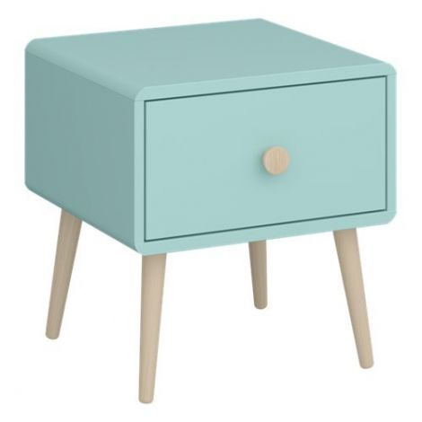 Nightstand GAIA 002 - Nightstand with 1 drawer - COOL MINT