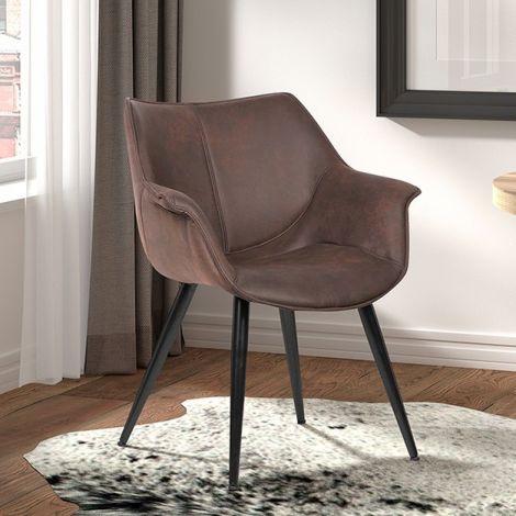 Satz von 2 Stühlen Mailand - braun