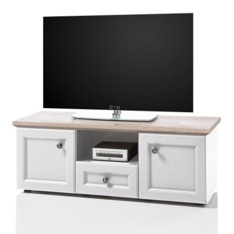 TV-Schrank Norah 122cm - weiß/braun