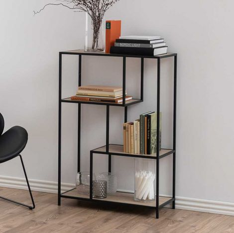 Seaford bookcase - matt black