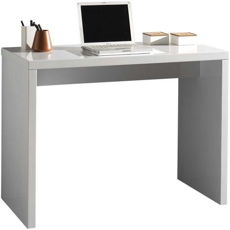 Seitentisch Arno 100 cm - Hochglanz weiß
