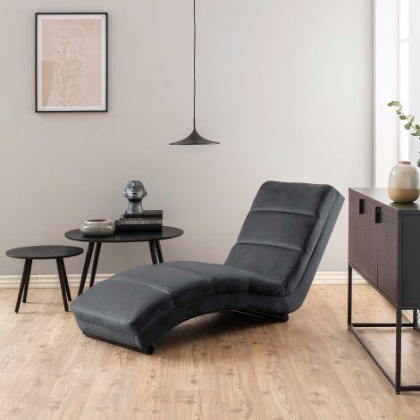Chaise longue Slick - dunkelgrau/schwarz