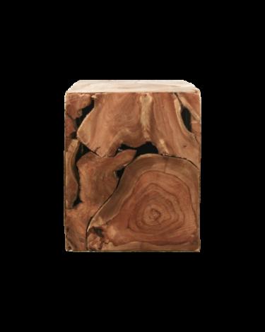 Beistelltisch Curva 25x25 cm - Teakholz/Naturwachs