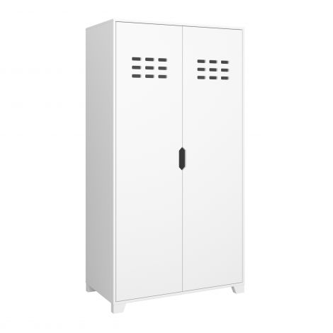 Wardrobe LOKE 101 - Wardrobe with 2 doors - EXTRA WHITE