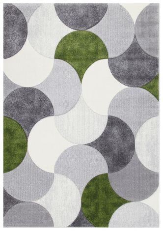 Teppich Gioia A 190x133 - Gris/vert