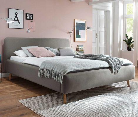 Gedempt bed Mattis - 180x200 cm - taupe