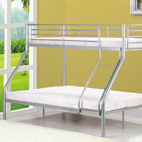 Etagenbett Nobi 3-Sitzer Metall - grau