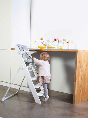 Kitgrow Baby Treppenstuhl Für Barhöhe Weiss