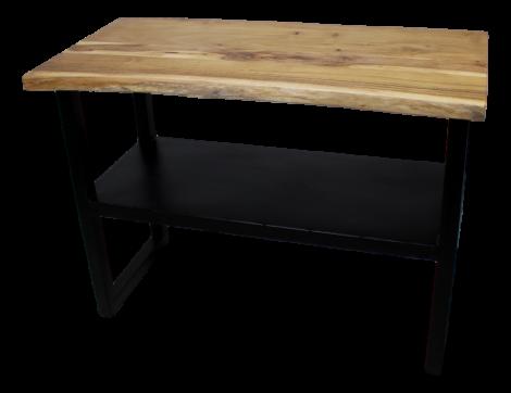 Seitentisch SoHo - Akazie / Eisen - pulverbeschichtet schwarz
