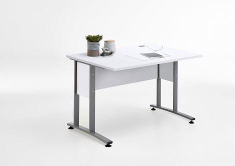 Schreibtisch Gabi 120 cm - hochglanz weiß