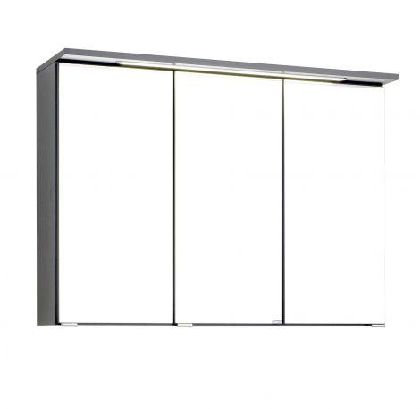 Spiegelschrank Bobbi 90cm modell 1 3 türen und led beleuchtung - graphit