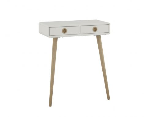 Conole table SOFT LINE 438 - Console table with 2 drawers - WHITE