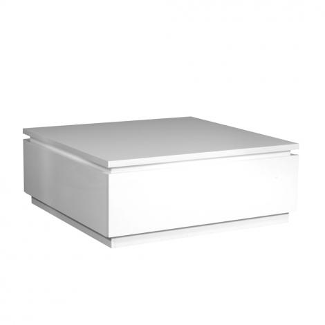 Couchtisch Elif 90x90 mit Beleuchtung - Hochglanz weiß