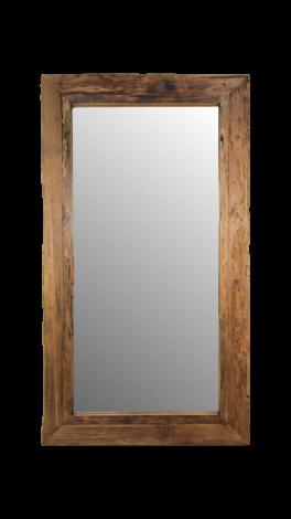 Wandspiegel Rustikal - 200x100 cm - Treibholz Teakholz