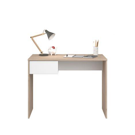 Shelby Schreibtisch 94 cm mit 1 Schublade - Eiche/Weiß