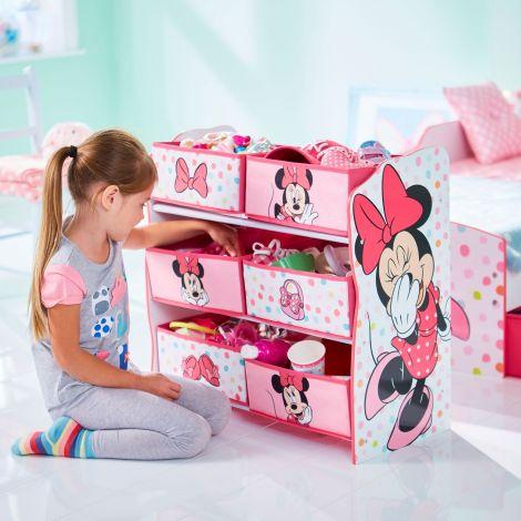 Regal mit 6 Boxen - Minnie Maus