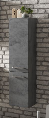 Säulenschrank Stivan 30cm 2 Türen - Beton