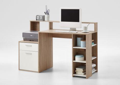 Schreibtisch Elton 139cm - Eiche/Weiß