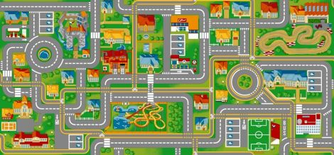 Teppich Play City – 95x200
