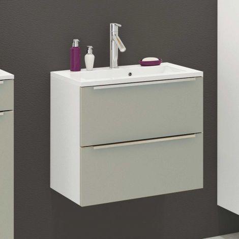 Waschbeckenschrank Hansen L60xD39cm 2 Schubladen - grau/weiß