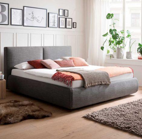 Bett mit Stauraum Celine 180x200 - anthrazit