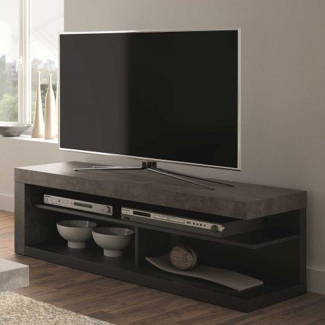 TV-Schrank Delta 130cm - beton/schwarz