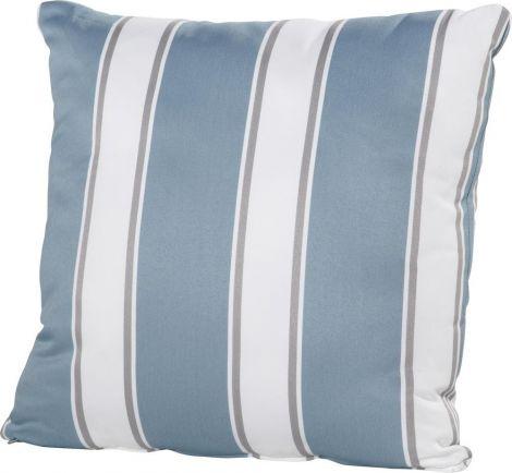 Kissen 50x50 - blau/weiß gestreift