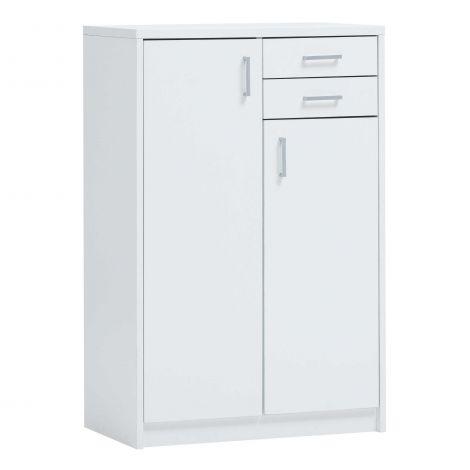 Kommode Spacio 2 Türen & 2 Schubladen H 110cm - weiß