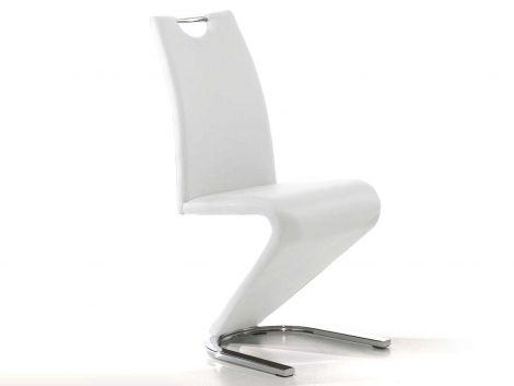 Set mit 2 Stühlen Lineo - weiß