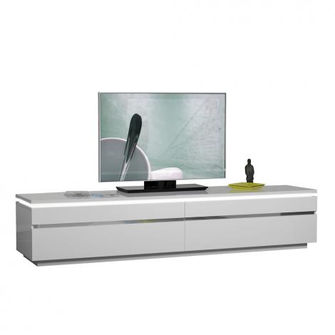 TV-Schrank Elif 220cm - Hochglanz weiß