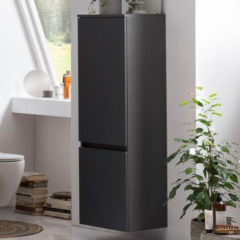 Säulenschrank Kornel/Pisca 40cm 2 Türen - graphitgrau