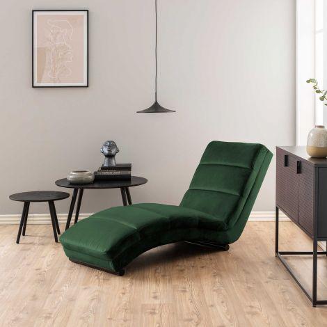 Chaise longue Slick - waldgrün