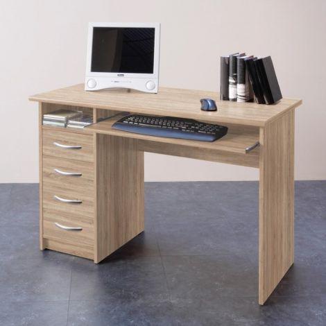 Schreibtisch Jils 110cm mit 4 Schubladen - Eiche