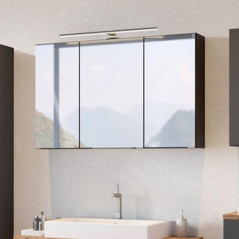 Spiegelschrank Pisca 100cm 3 Türen - graphitgrau