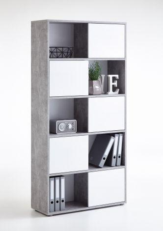 FUTURA 2 UP - Regal bestehend aus 2 Colli - Beton LA/Hgl weiß